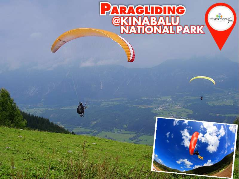 Paragliding at Kinabalu National Park