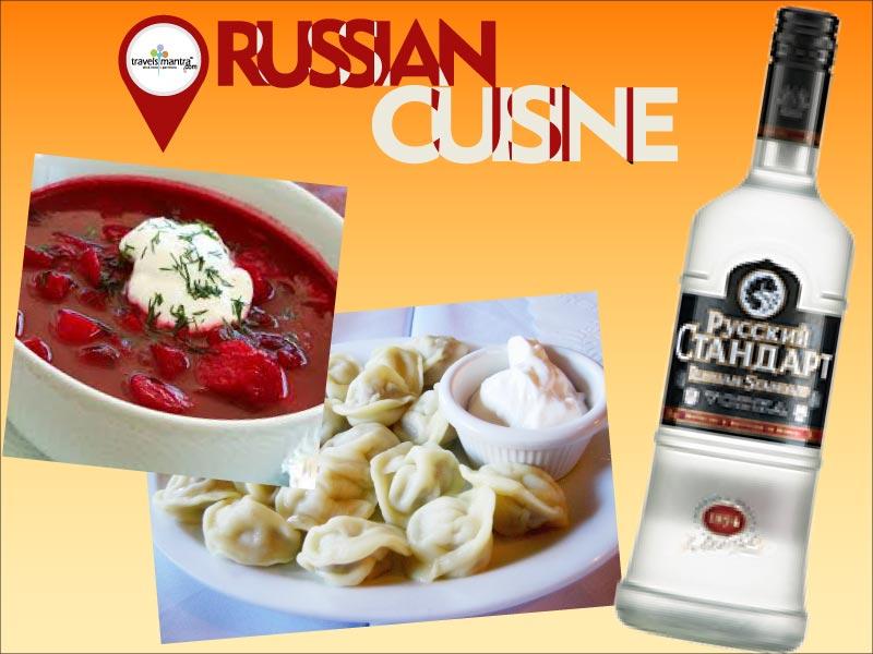 Russia Tourism - Cuisine & Vodka