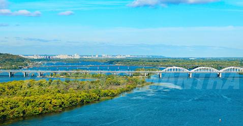 Dnieper river quay, Kiev